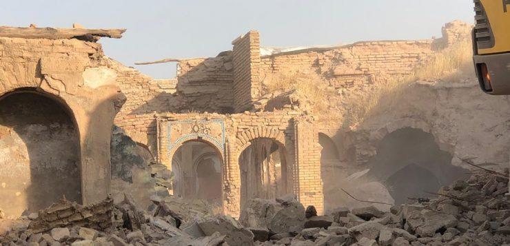 شبیخون به بافت تاریخی شیراز/تخریب ناگهانی بنای زندیه – قاجاریه/میراث مجوز داده است؟
